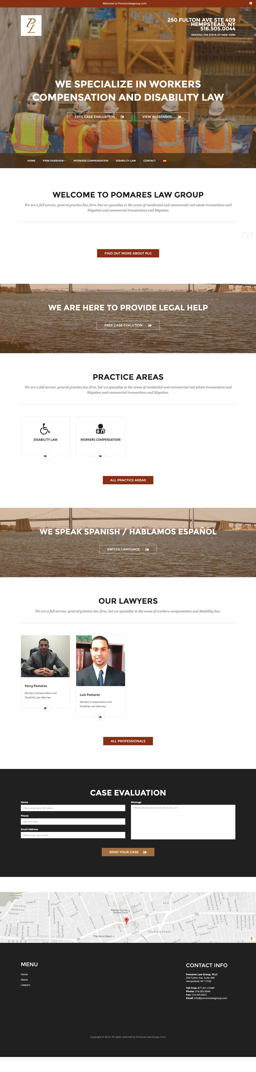 Portfolio, Pomares Law Group, Checo Designs